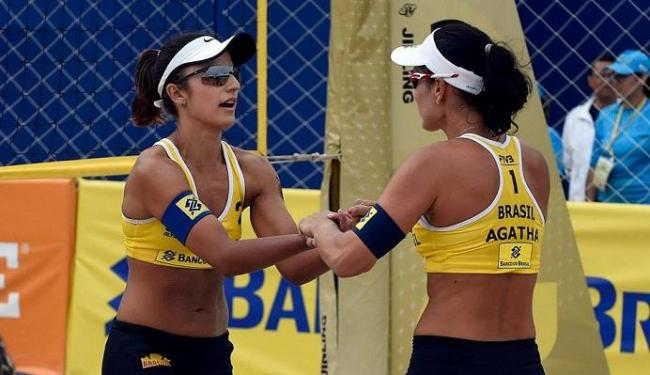 De acordo com a CBV, a escolha da duplas obedeceu critérios técnicos - Foto: Reprodução   Facebook   Agatha e Barbara