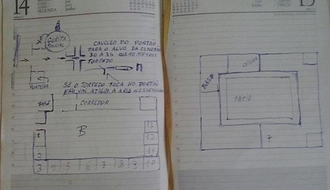 Desenhos foram encontrados na casa onde reside adolescente de 14 anos - Foto: Mirian Ferreira | Liberdade News