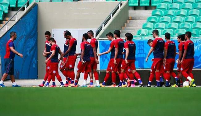 Jogadores treinam na Arena Fonte Nova - Foto: Fernando Amorim | Ag. A TARDE