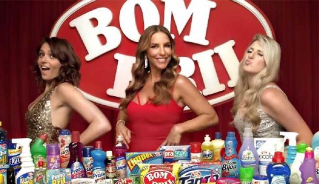 Mônica, Ivete e Dani fazem piada com os homens - Foto: Divulgação   Bombril