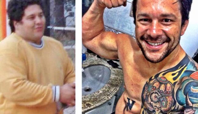 Em três anos o personal perdeu 56kg e hoje está pesando 88kg - Foto: Reprodução | Aquivo Pessoal