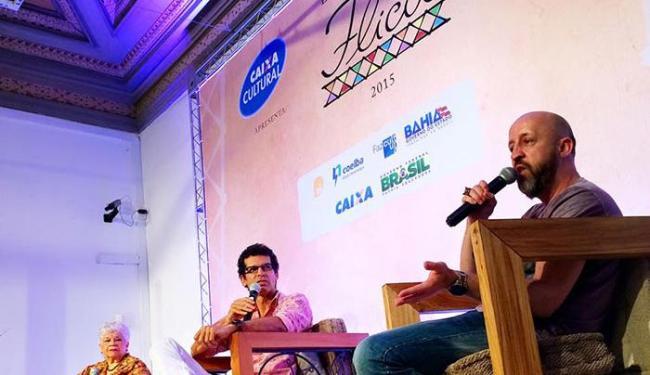 Carpinejar, Miriam de Sales e Jackson Costa participam de mesa da Flica - Foto: Reprodução | Facebook