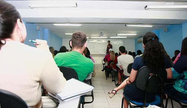 Sala do Impar Concursos: orientação para o concurseiro é não desanimar - Foto: Joá Souza | Ag. A TARDE