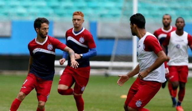 Atualmente, Bahia treina e joga na Arena com base em aditivo feito no contrato anterior - Foto: Divulgação   Felipe Oliveira   E.C. Bahia