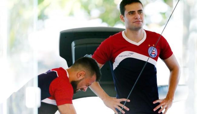Os jogadores que atuaram por mais de 45 minutos contra o Macaé fizeram apenas trabalho regenerativo - Foto: Felipe Oliveira | Divulgação | E.C. Bahia