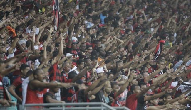 A torcida rubro-negra compareceu em bom número na partida contra o Mogi Mirim - Foto: Fernando Amorim   Ag. A TARDE