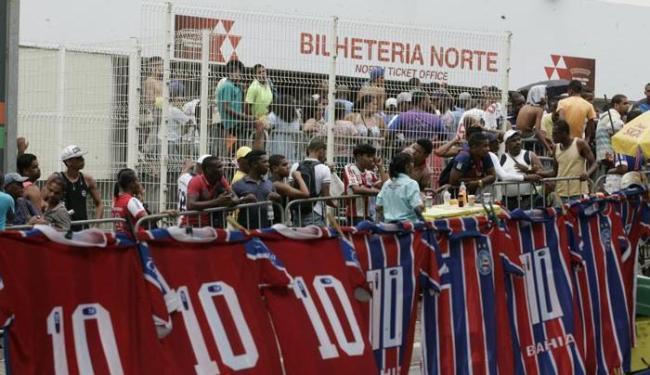Só restam agora dois setores para os torcedores do Bahia acompanharem o Ba-Vi na Arena Fonte Nova - Foto: Edilson Lima   Ag. A TARDE