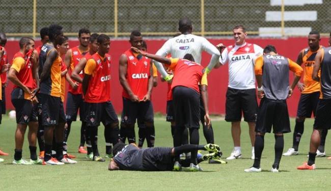 Técnico rubro-negro fez mistério na última quinta, mas veio sem novidades - Foto: Marco Aurélio Martins | Ag. A TARDE
