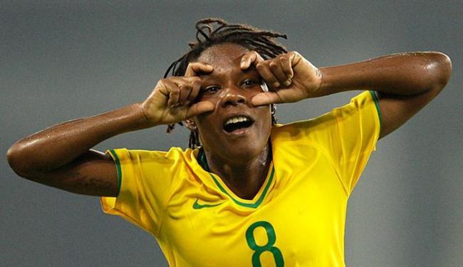 Formiga: 'Nosso país é machista. Projetos para o futebol feminino ficam na gaveta' - Foto: Armando Franca / AP