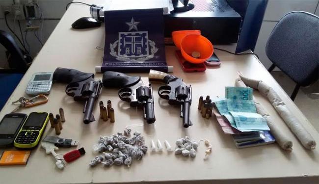 Polícia também apreendeu drogas e armas com o grupo - Foto: Divulgação | Polícia Civil