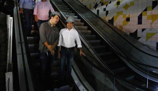 Escadas poderão ser usadas pelo público próximo mês - Foto: Eduardo Martins | Ag. A TARDE