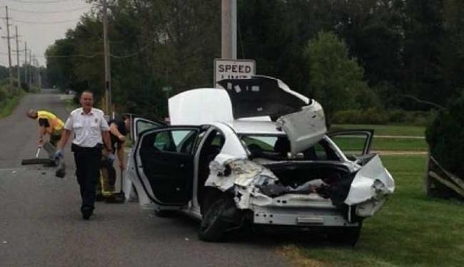 Garoto teve ferimentos leve e foi levado a hospital - Foto: Reprodução   Kosciusko County Sheriff's Department   News Channel 4/KFor.com