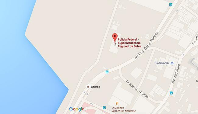 Acidente ocorreu em frente à Superintendência Regional da Polícia Federal - Foto: Reprodução   Google Maps