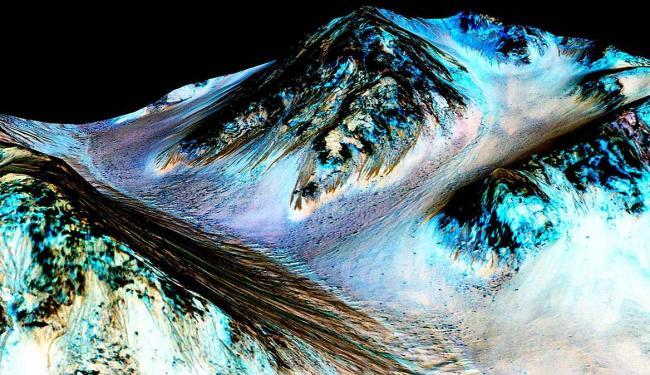 Imagem de Marte mostram evidência da existência de água salgada no planeta - Foto: Reuters