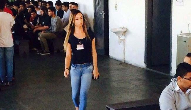 Marianna reproduziu em seu Facebook as fotos divulgadas indevidamente - Foto: Reprodução | Facebook
