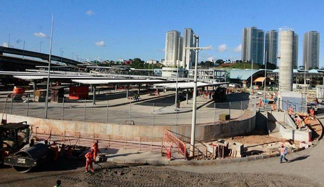 Alterações são para instalação de passarela na obra da estação do metrô - Foto: Joá Souza | Ag. A TARDE