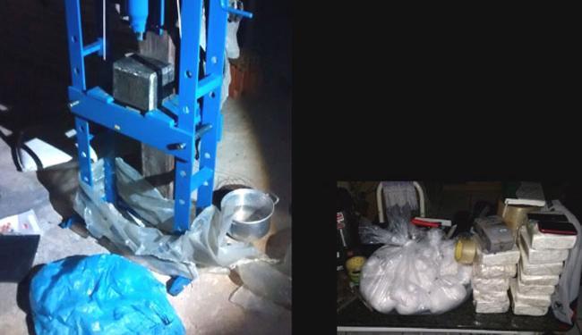 Em agosto, a polícia localizou e desmontou um laboratório de refino de cocaína, em Porto Seguro - Foto: Divulgação | Polícia Federal