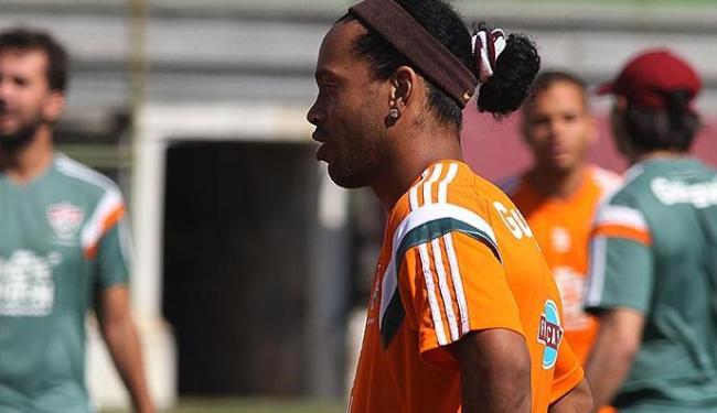 Ronaldinho fez apenas treino físico essa manhã - Foto: Nelson Perez | Fluminense F. C.