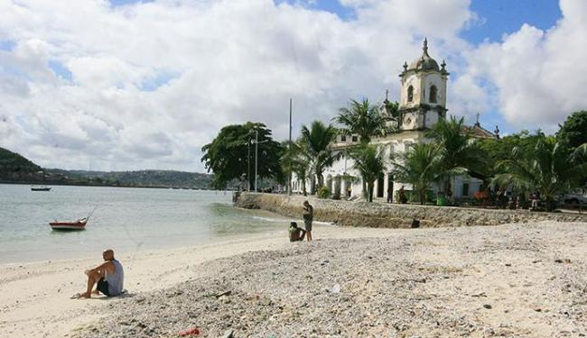 Praia da Penha e a do Bogari na Ribeira tem indicação de imprópri - Foto: Luciano da Matta | Ag. A TARDE