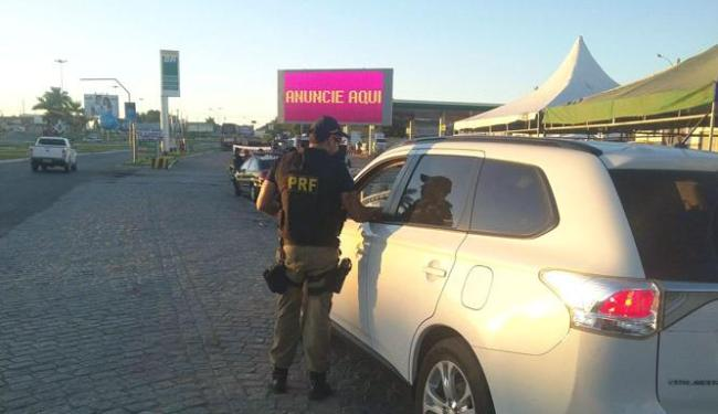 Durante operação a PRF fiscalizou 9.286 veículos - Foto: Divulgação   Polícia Rodoviária Federal