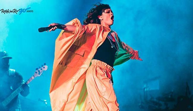Rihanna sensualizou, brincou com o público e fez poses - Foto: Divulgação | Rock in Rio