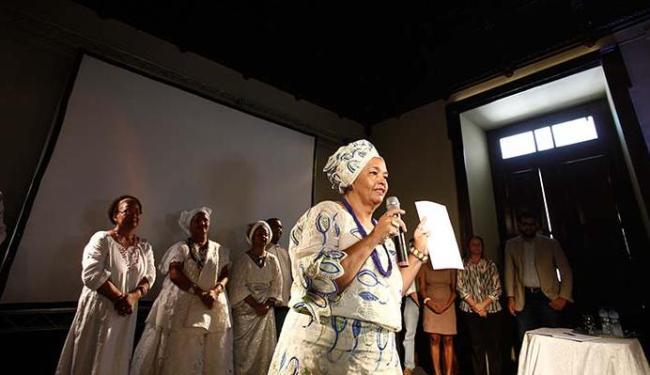 Rita Santos, da Abam, falou pela categoria na cerimônia - Foto: Raul Spinassé | Ag. A TARDE