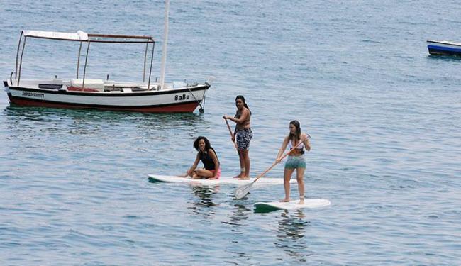 Mar calmo do Porto da Barra é ideal para o esporte - Foto: Luciano da Matta | Ag. A TARDE