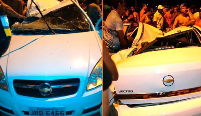 O motorista ficou preso às ferragens - Foto: Reprodução | Teixeira News