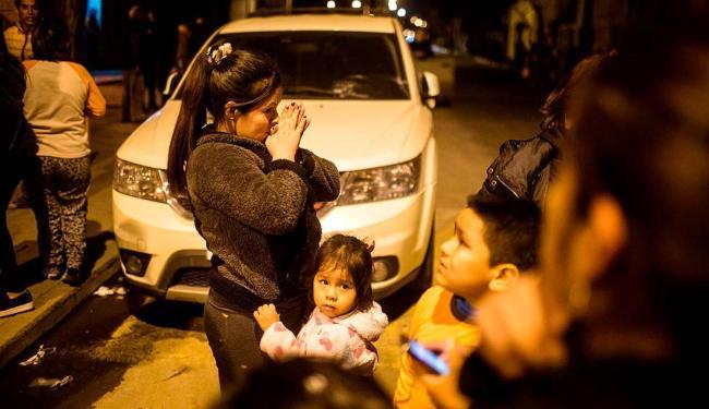 Por conta do terremoto, mais de um milhão de pessoas deixaram suas casas no Chile - Foto: Pablo Sanhueza | Agência Reuters