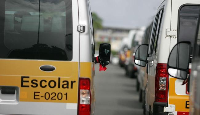 A manifestação deixa o trânsito lento na região - Foto: Joá Souza | Ag. A TARDE
