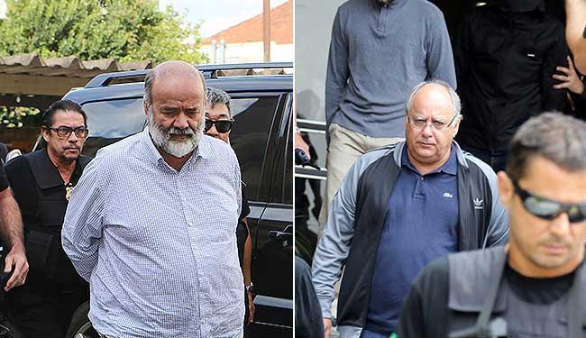 Duque (dir) e Vaccari somam 43 anos de prisão - Foto: Rodolfo Burher | Agência Reuters/Geraldo Bubniak | AGB | Estadão Conteúdo