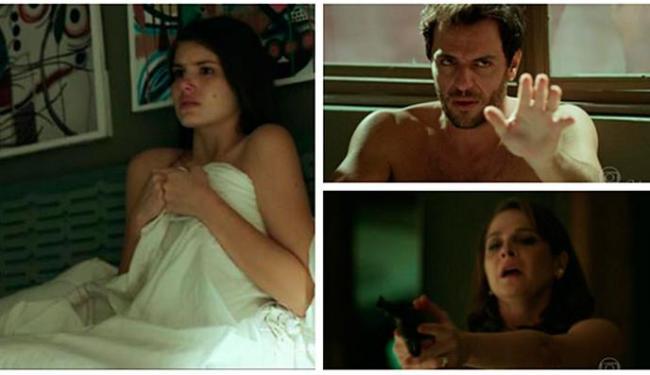 Carolina descobre a traição de Alex e Angel no penúltimo capítulo - Foto: Reprodução | TV Globo
