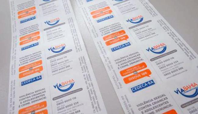 No verso dos boletos da Via Bahia os usuários poderão encontrar informações de como denunciar - Foto: Divulgação | Via Bahia