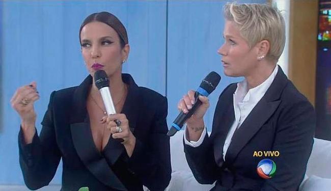 Ivete Sangalo foi uma das convidadas do programa da Xuxa nesta segunda-feira, 7 - Foto: Reprodução | Record