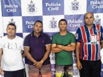 Alex, André, Jalisson e Márcio negam cometer crime - Foto: Andrezza Moura | Ag. A TARDE