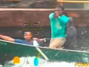 Bandidos trocaram tiros com a polícia durante fuga - Foto: Reprodução