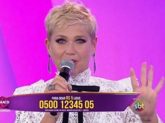 Xuxa se apresenta no Teleton, do SBT - Foto: Divulgação