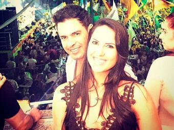 Graciele postou foto com Zezé em festa da escola de samba - Foto: Reprodução | Instagram