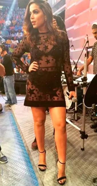 O vestido é da grife Patrícia Vieira e levou 15 dias para ficar pronto - Foto: Rede Globo | Reprodução