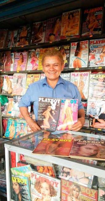 Guerrinha tem 8 mil títulos na banca, em São Paulo - Foto: Arquivo Pessoal