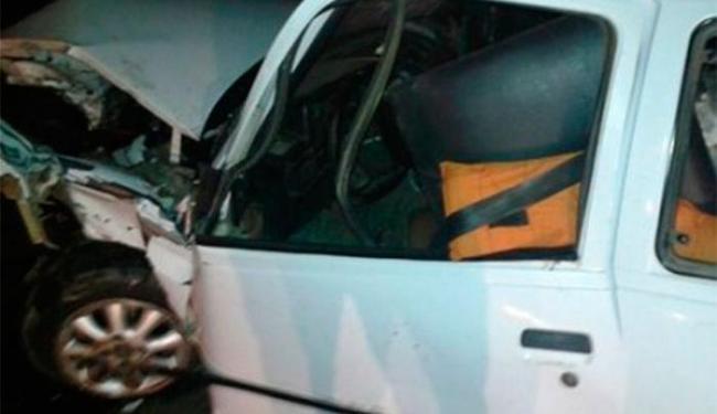 Acidente envolveu duas colisões seguidas - Foto: Reprodução   Blog do Anderson