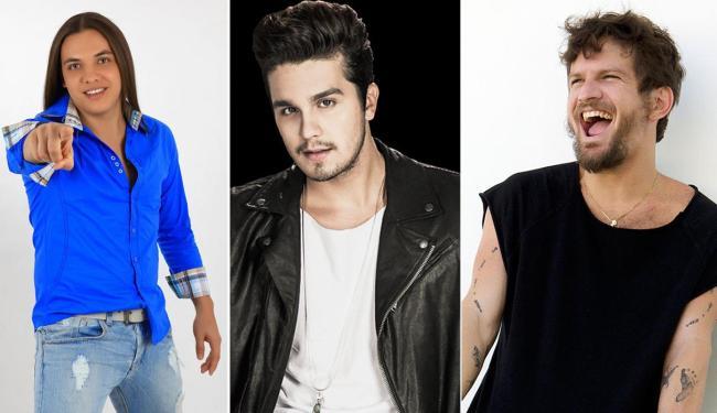 Wesley Safadão, Luan Santana e Saulo integram a grade de atrações - Foto: Divulgação