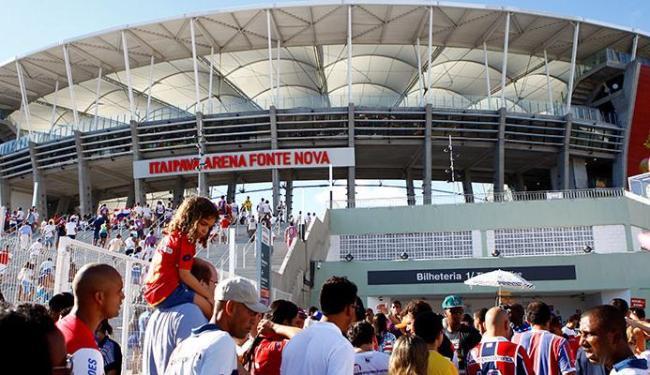 Times se enfrentaram nove vezes desde que a Arena Fonte Nova foi inaugurada, em 2013 - Foto: Fernando Vivas  Ag. A TARDE