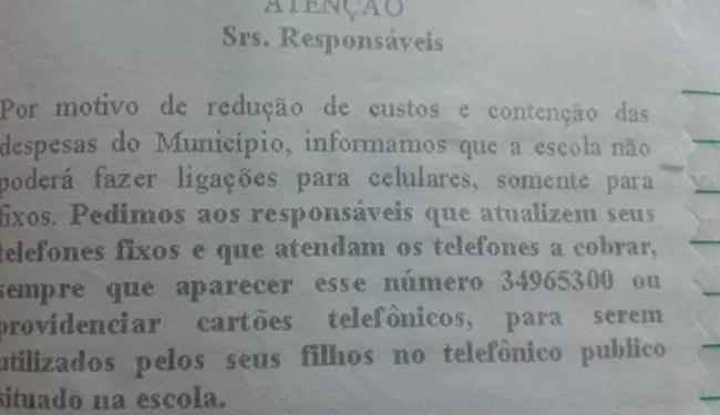 Colégio diz que não vai mais ligar para celular dos pais - Foto: Reprodução