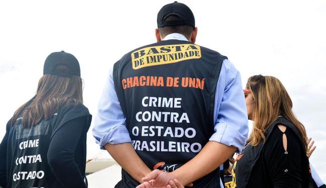 Sindicato Nacional dos Auditores Fiscais do Trabalho faz ato público para lembrar a chacina - Foto: Antônio Cruz   ABr