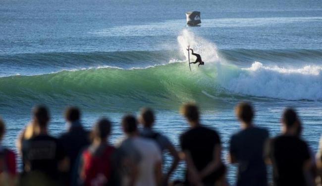 Gabriel Medina foi o principal destaque neste sábado, na etapa francesa do Mundial de Surfe - Foto: WSL | Kirstin Scholtz