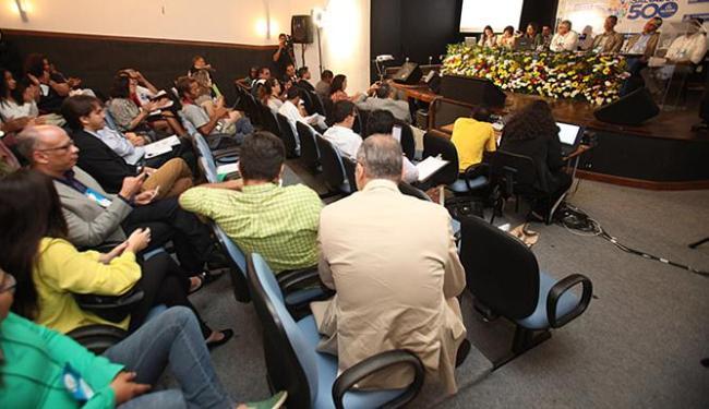 Participantes lotaram o auditório do Centro de Cultura da Câmara, na praça Thomé de Souza - Foto: Raul Spinassé l Ag. A TARDE
