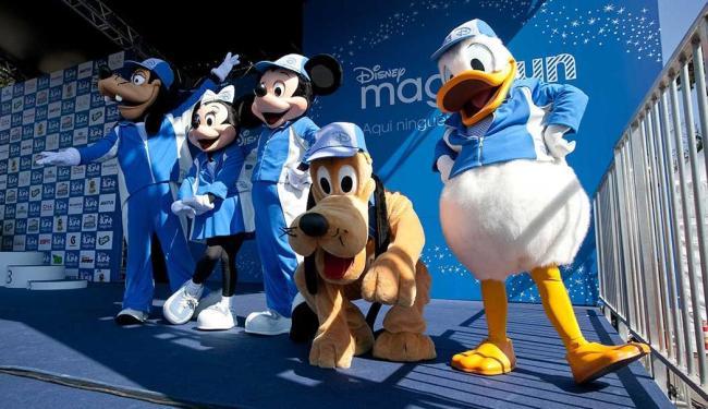 Personagens da Disney acompanham participantes no evento - Foto: Divulgação