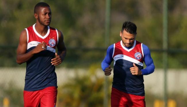 Soares testou João Paulo Penha e Maxi como dupla de ataque - Foto: Felipe Oliveira / EC Bahia / Divulgação