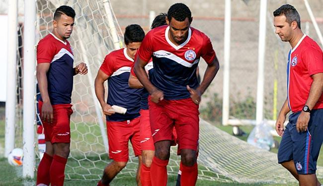 Jogadores fizeram regenerativo no período da manhã - Foto: Felipe Oliveira | E.C. Bahia | Divulgação
